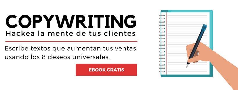 """""""Hackea la mente de tus clientes"""" - banner ebook gratis copywriting"""