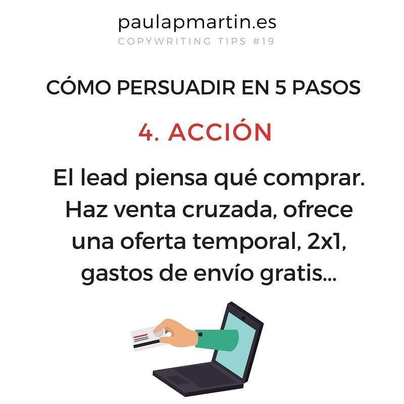 Acción - Persuadir en 5 pasos aplicando copywriting marketing digital barato pymes autonomos