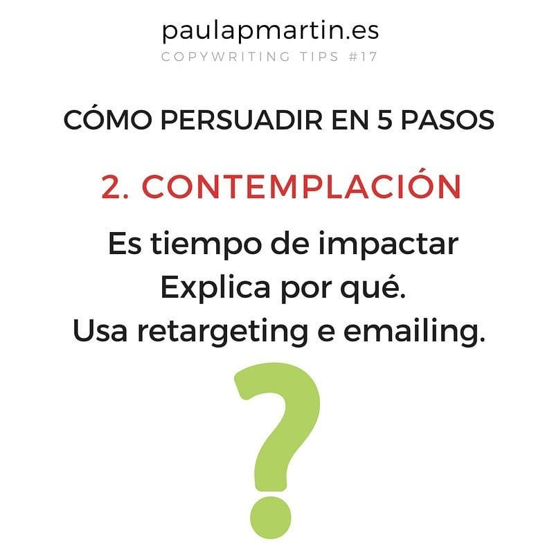 Contemplación - Persuadir en 5 pasos aplicando copywriting marketing digital barato pymes autonomos