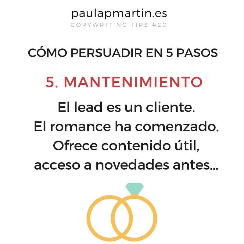 Mantenimiento - Persuadir en 5 pasos aplicando copywriting marketing digital barato pymes autonomos
