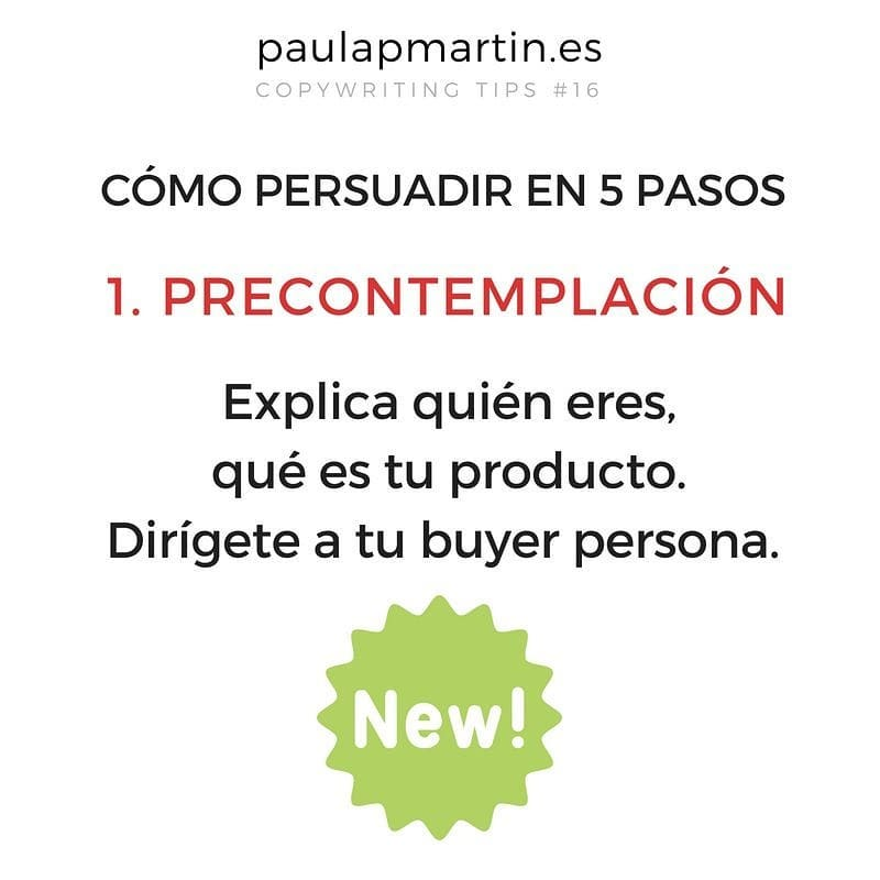 Precontemplación - Persuadir en 5 pasos aplicando copywriting marketing digital barato pymes autonomos