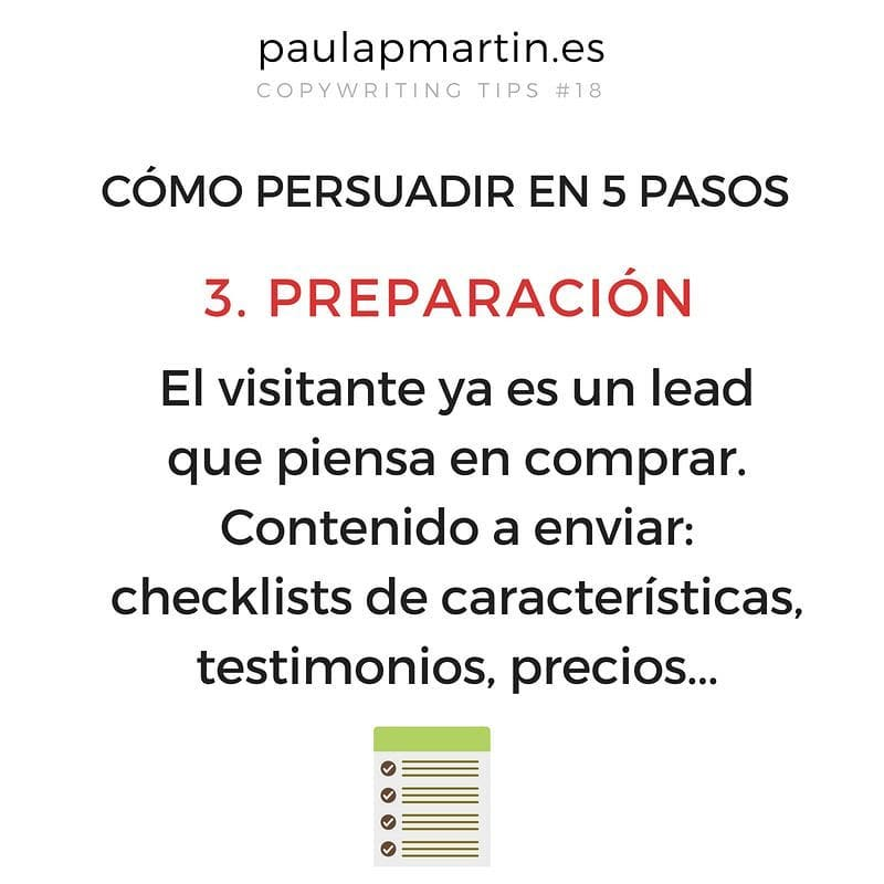 Preparación - Persuadir en 5 pasos aplicando copywriting marketing digital barato pymes autonomos